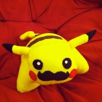 Moustache Pikachu Pillow Pet : Pokemon Plush / Toy