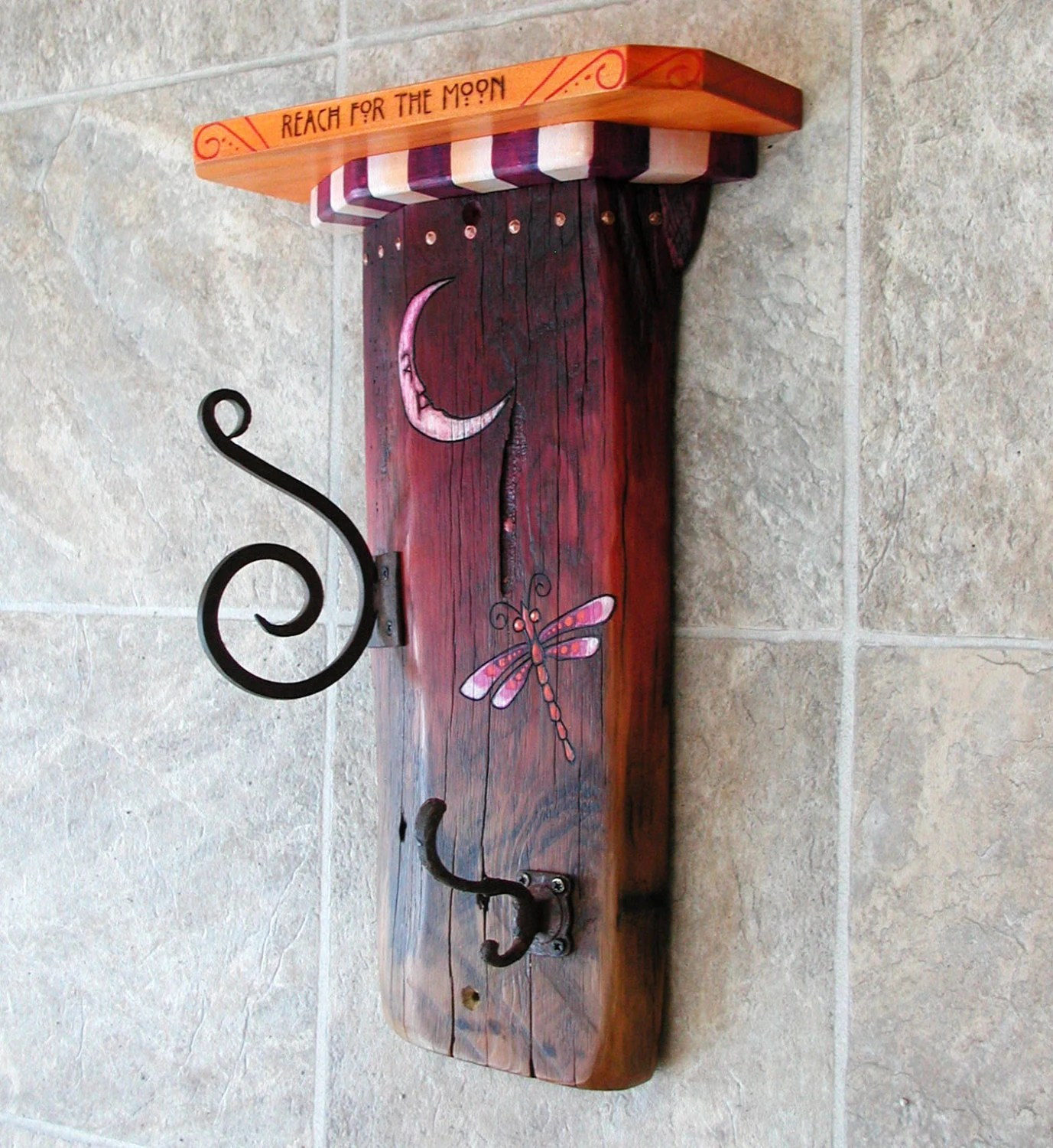 Whimsical Shelves Whimsical Rustic Coat Rack Shelf