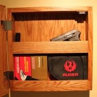 Items similar to Wall mounted hidden gun storage FREE ...