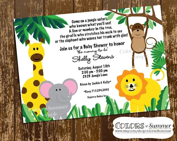 jungle party invitation wording