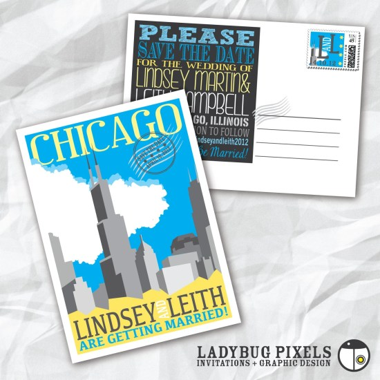 wedding wednesday 10 chicago save the date cards shop nyc daily