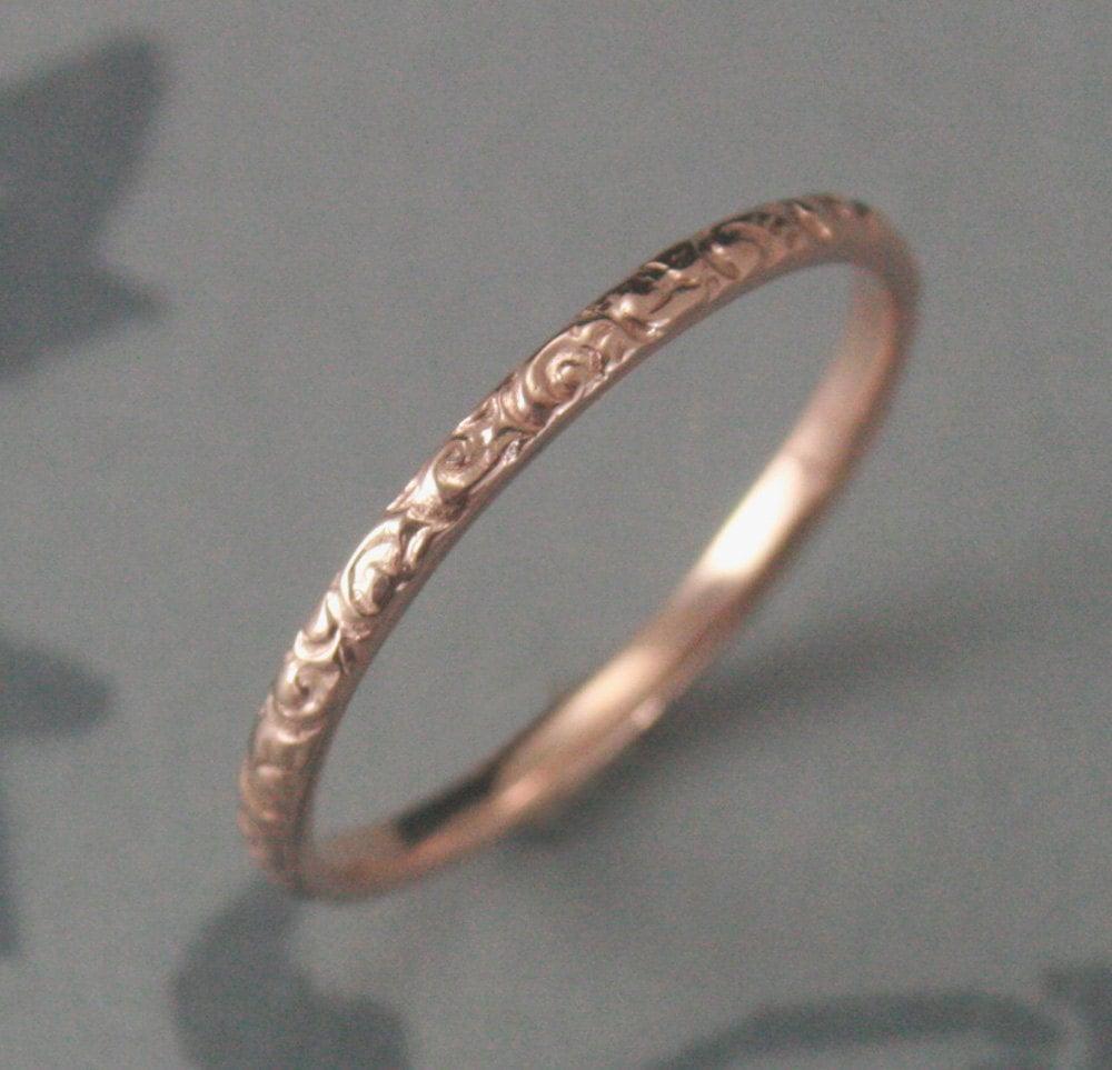 thin rose gold wedding ring 14k rose 14k gold wedding band zoom