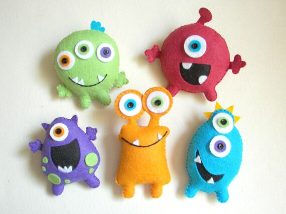 "Toy Monster Items Similar To Plush Toys, Felt Toys, Monster - ""monster"