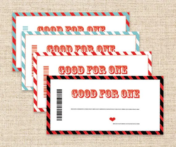 Birthday love coupons for boyfriend - Bright stars coupons - diy printable coupons