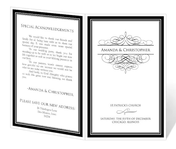 event program template - how to design wedding program template