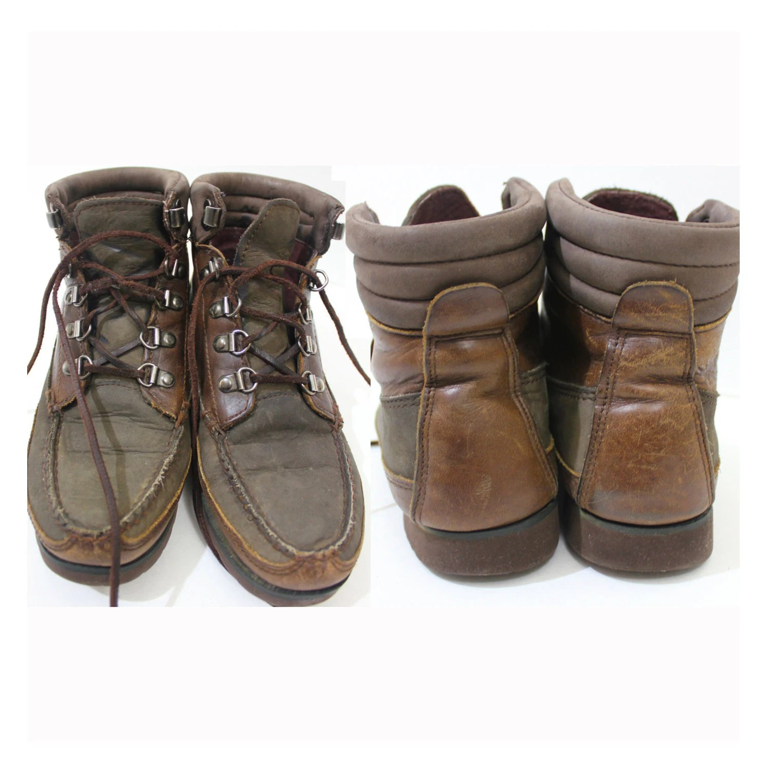 Vintage Retro Eddie Bauer Leather Boots Shoes By