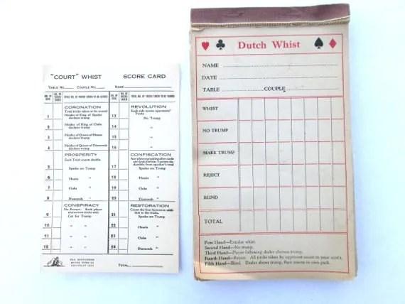 Canasta Score Sheet Hand And Foot Card Game Score Sheet Best