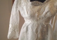 Vintage wedding dress white custom made 1950's Dallas to