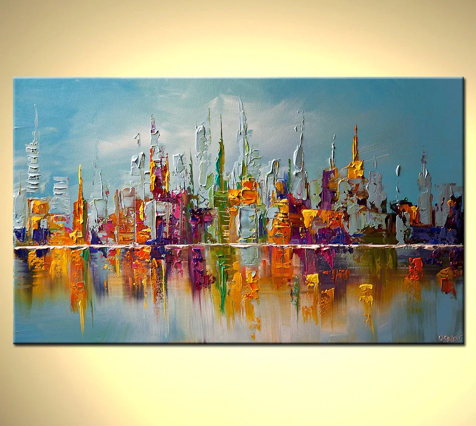 city abstract paintings