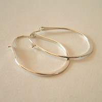 Items similar to Small Hoop Earrings, Sterling Silver ...