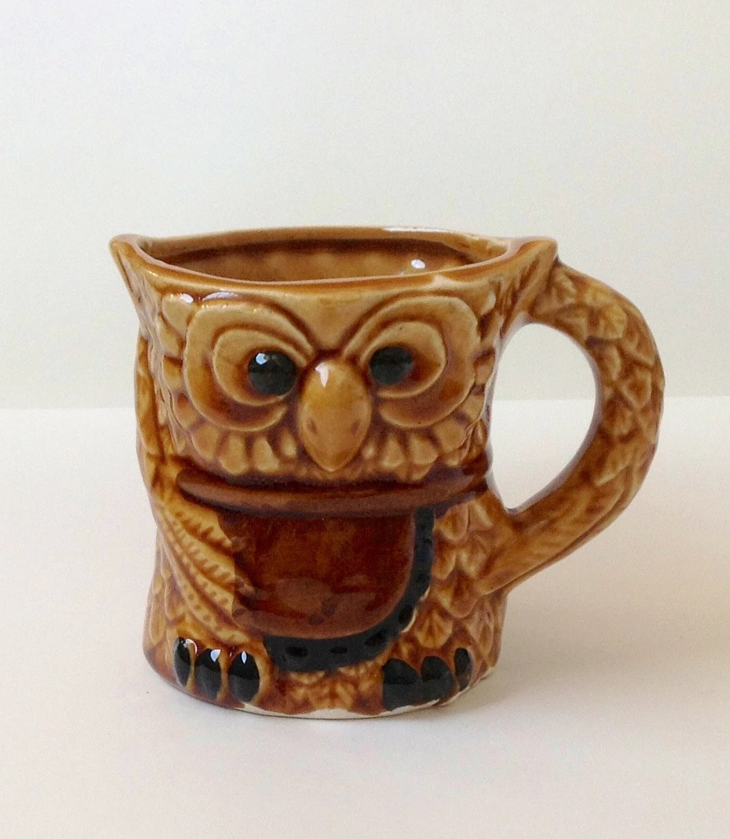 Owl Ceramic Mug Owl Mug On Sale Vintage Ceramic Coffee Cup By Fostandlound