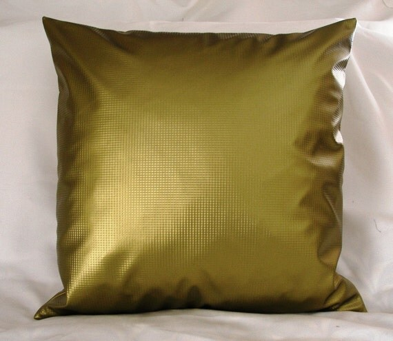 Chartreuse Green Vinyl Throw Pillow Cover 20 X 20 For The