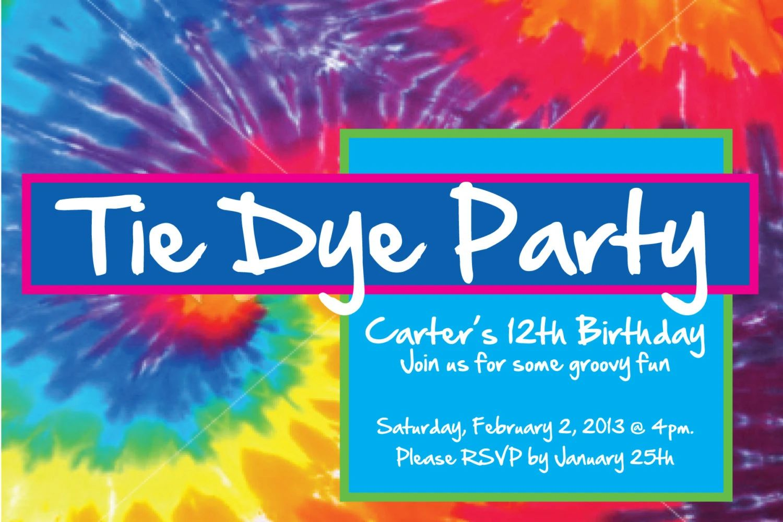 tie dye invitation
