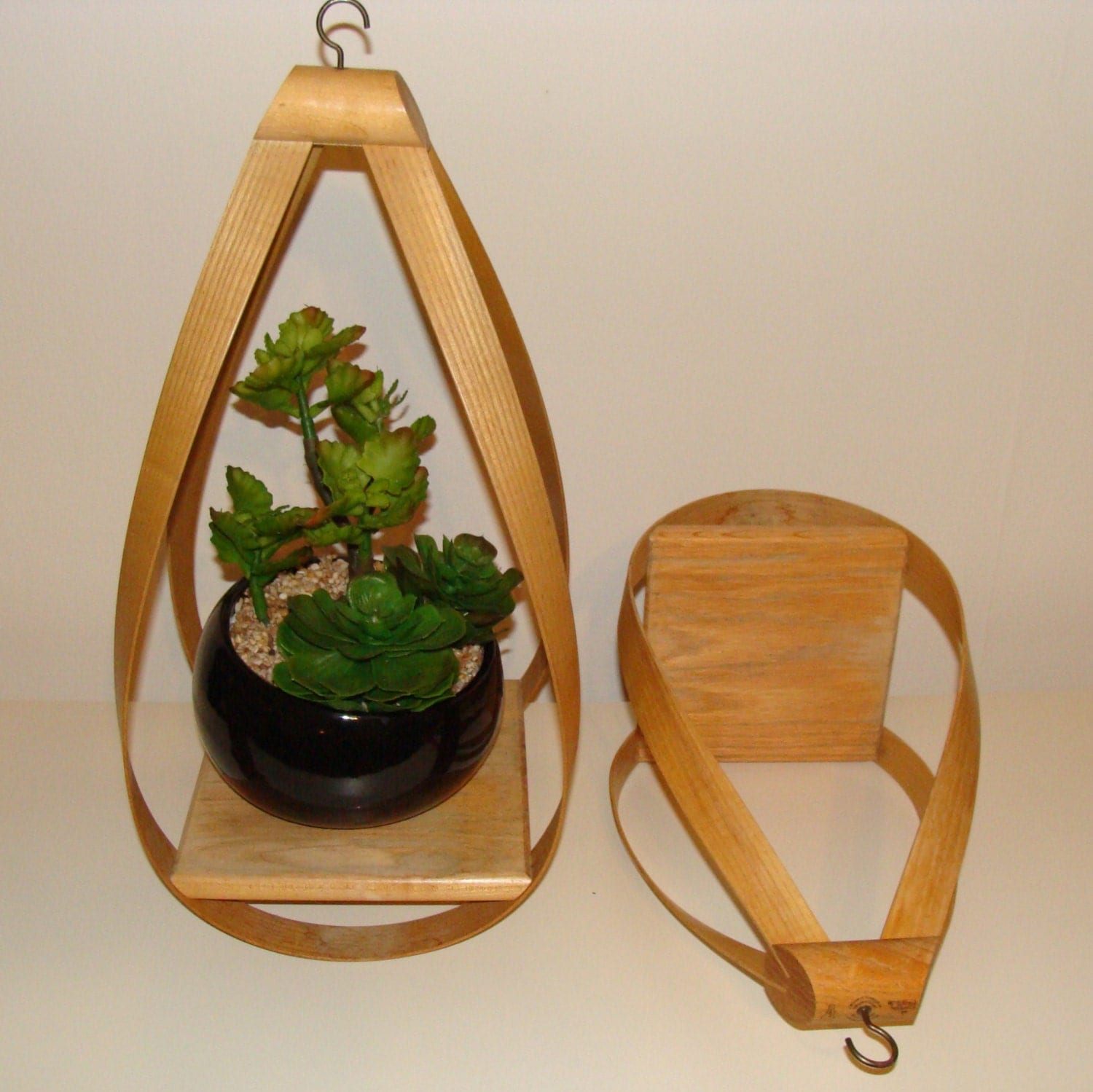 Indoor Wall Mounted Plant Holders Set Of Large Vintage Bent Wood Hanging Plant Holders Solid