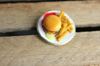Burger jewelry hamburger rings delicious fast food jewellery
