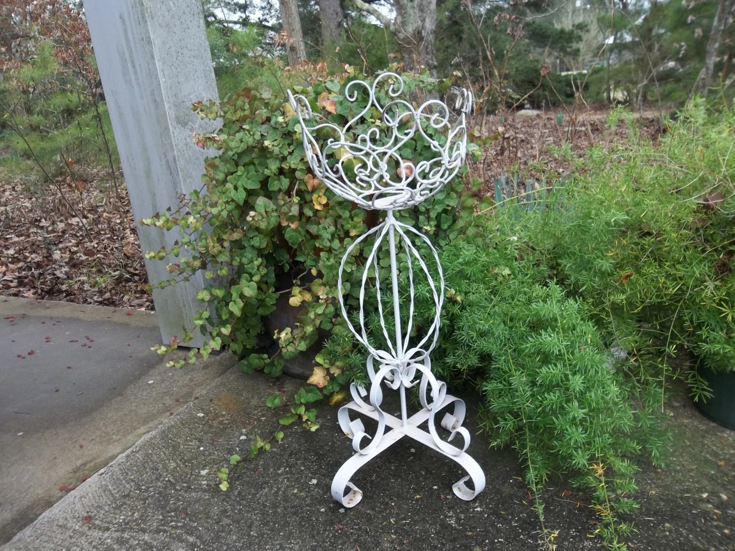 Tall Wrought Iron Plant Stands Vintage Fern Stand Wrought Iron Plant Stand Garden Decor