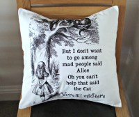 Alice in wonderland pillow We re all mad here Throw by VeeDubz