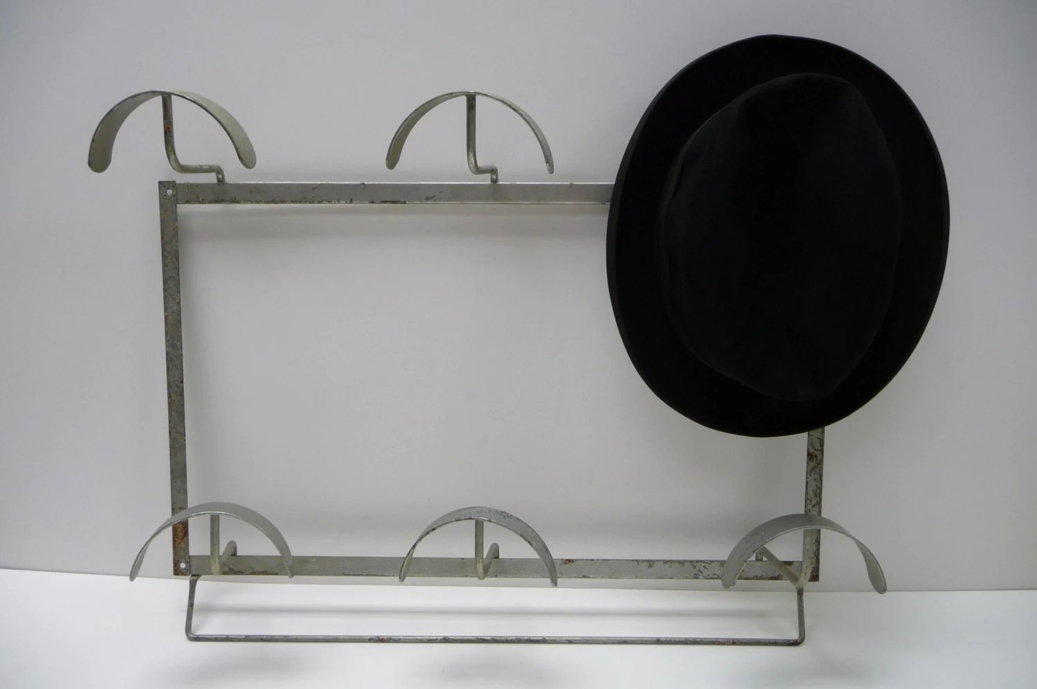 Hat Holders For Walls Vintage Metal Hat Rack Store Display Wall Hanging By