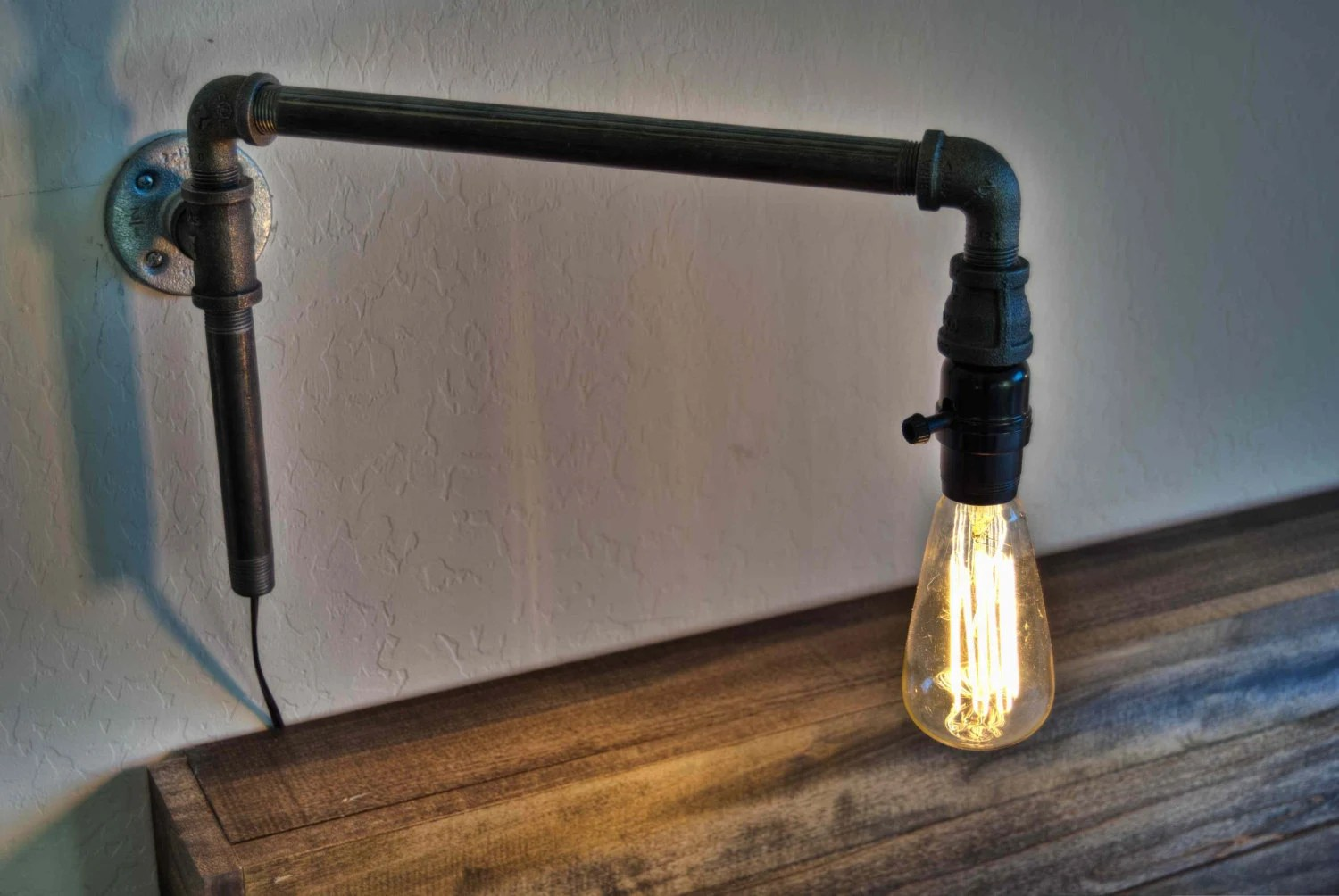 Pipe Light Fixtures Steampunk Wall Lamp Iron Lighting By Elizabethlyonsdesign