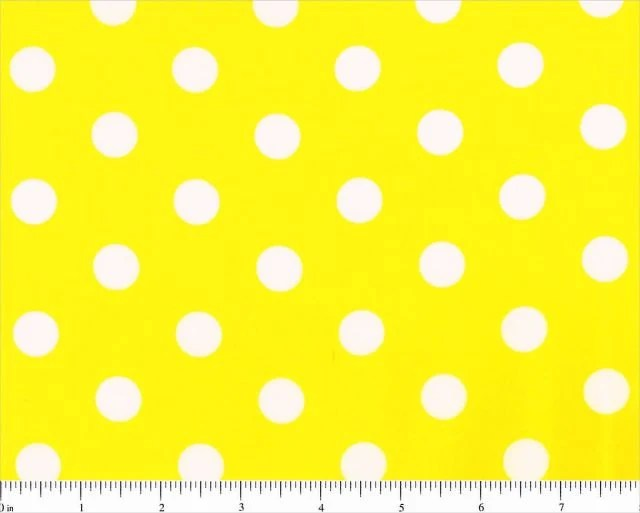 Polka Dots Wallpaper For Iphone Yellow With Large White Dots Lots A Dots Polka Dot Fabric By