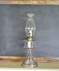 Vintage Oil / Kerosene Lamp Queen Anne Lamp Hurricane