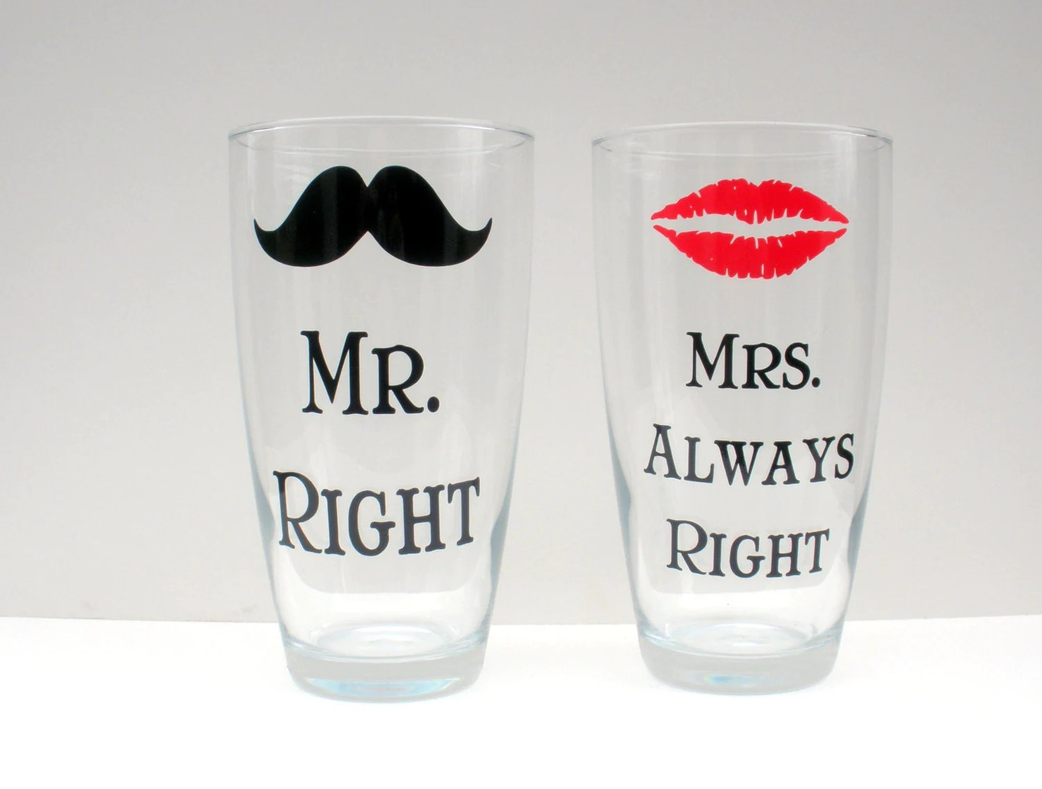 Mr Right Mrs Always Right Bettwäsche Mr Right And Mrs Always Right Glasses Set Of 2 By
