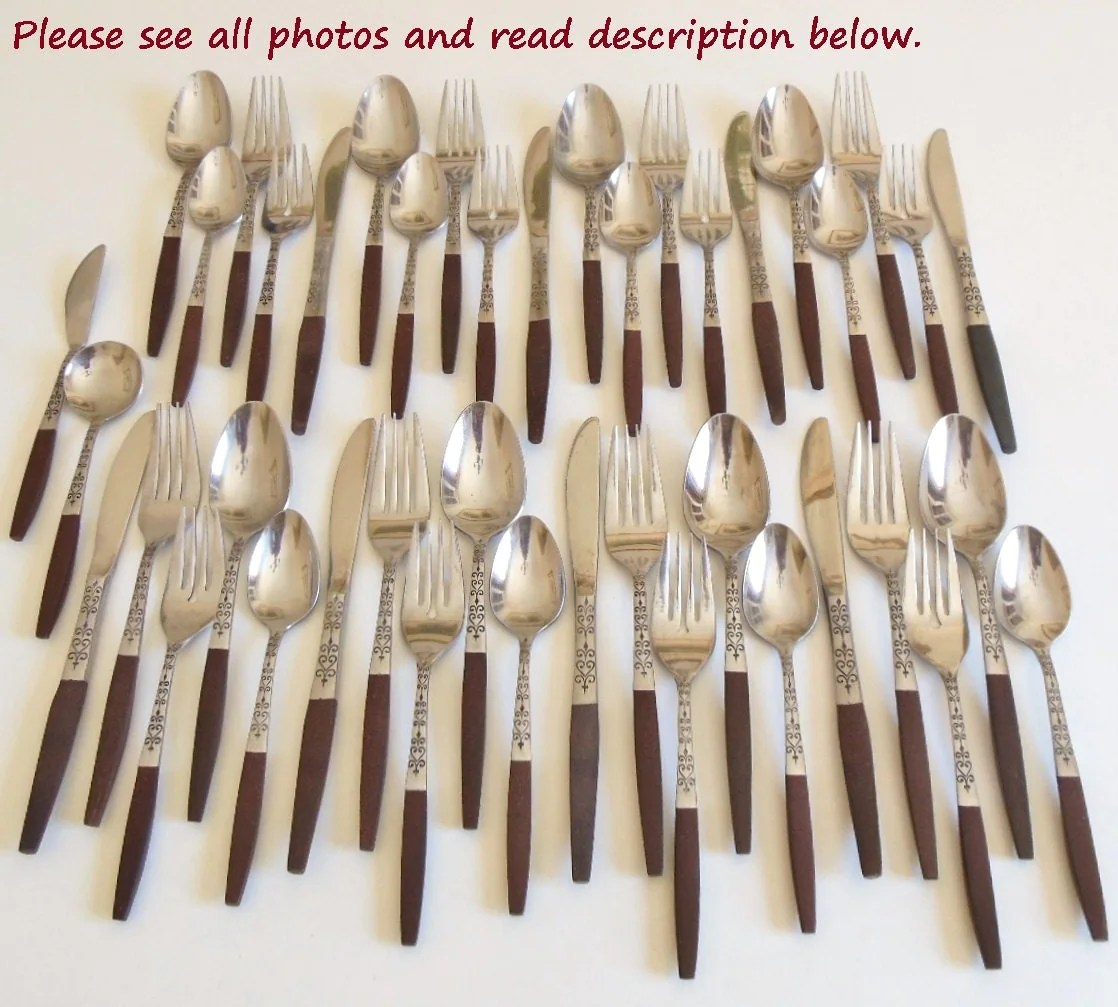 Contemporary Stainless Steel Flatware Danish Modern Flatware Set Interpur Inr2 Stainless