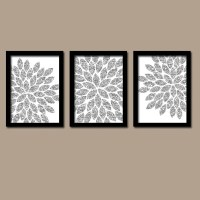 Silver GLITTER Wall Art Bedroom Pictures Canvas or by ...