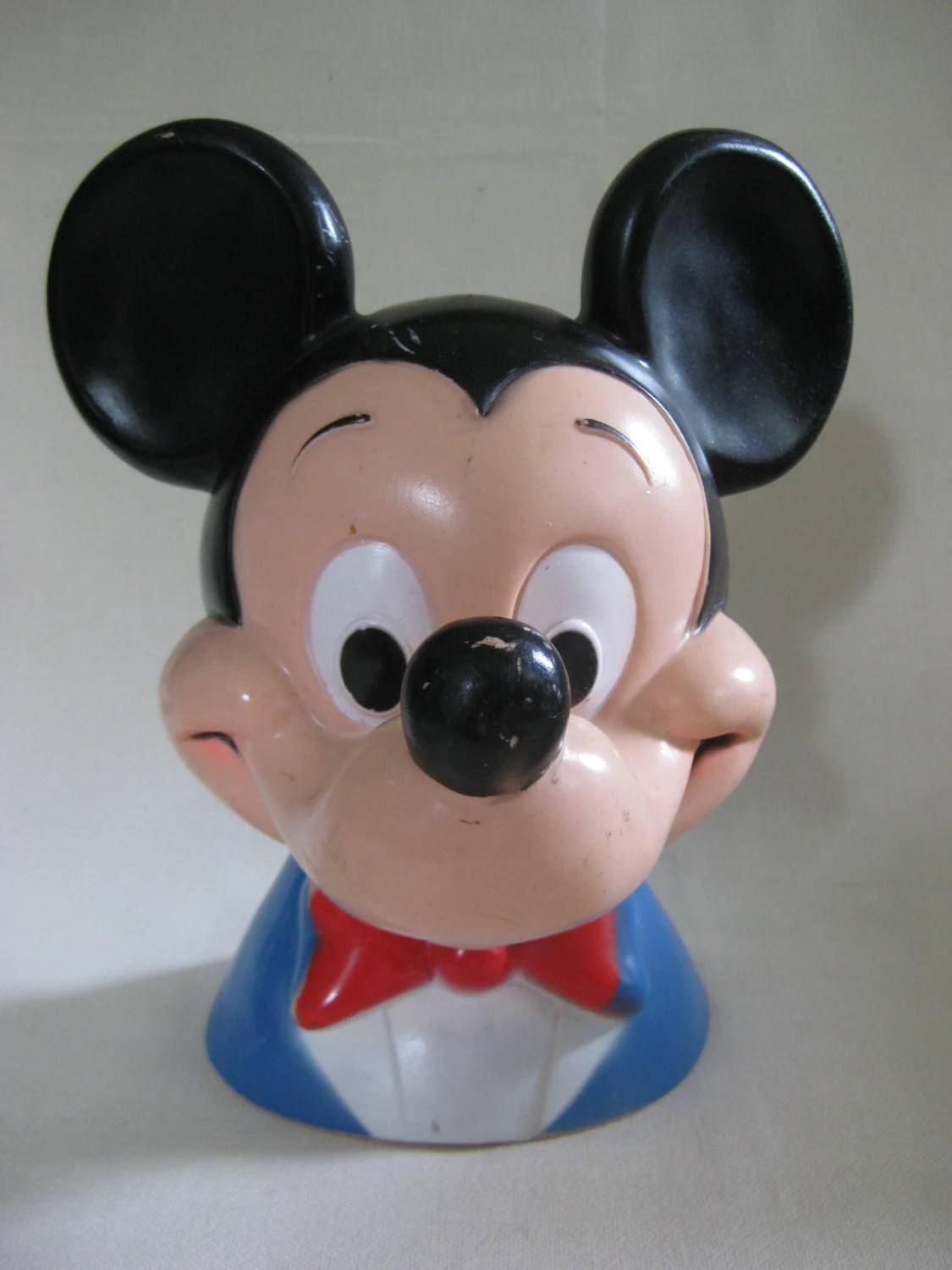 Plastikbank Vintage Large Mickey Mouse Bank By Vintagebythepound On Etsy