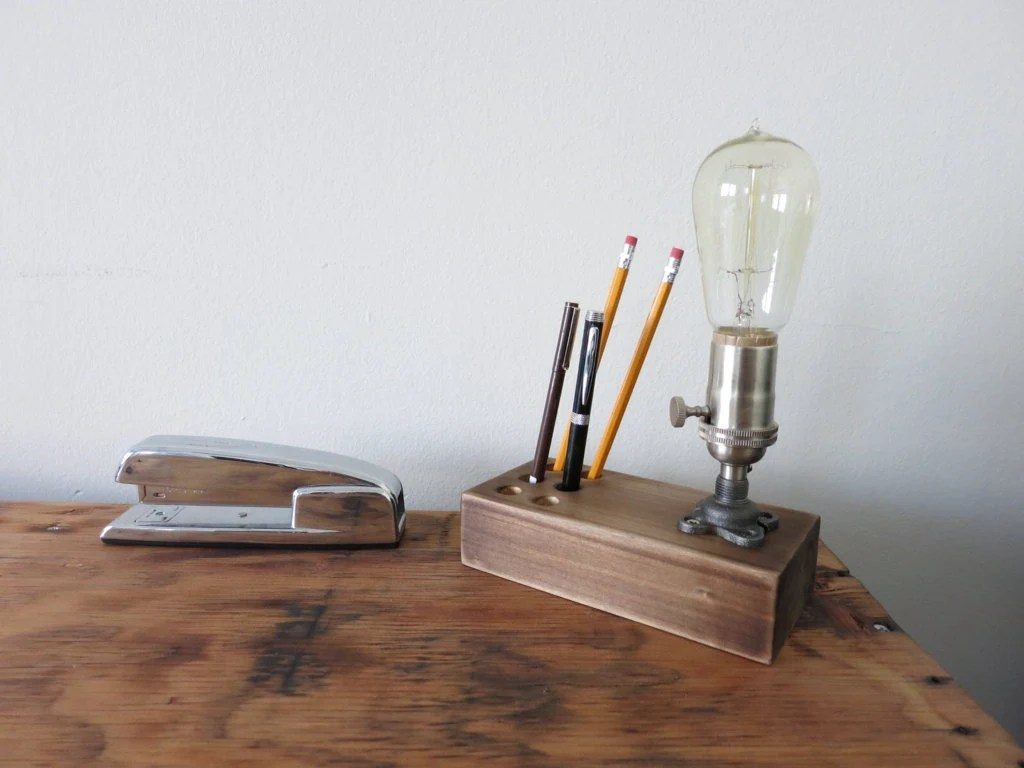 Pen And Pencil Holder For Desk The Graduate Edison Desk Lamp W Pen And Pencil Holder