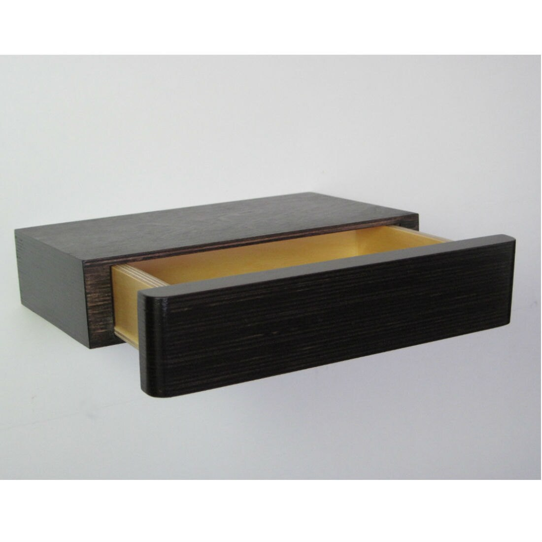 Pacco Floating Drawer In Dark Walnut Stain