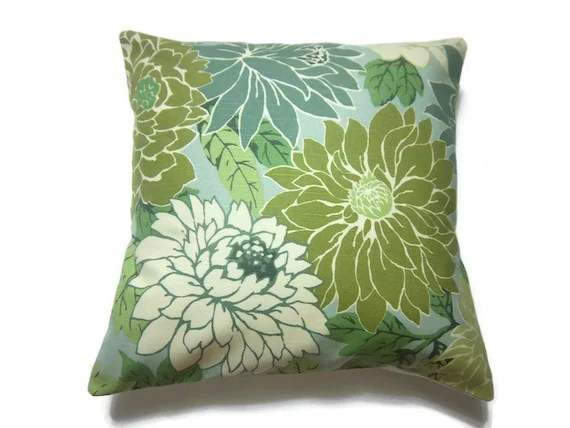 Decorative Pillow Cover Mint Green Off White By