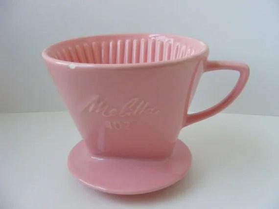 Rare Pink Melitta 102 Ceramic Coffee Filter Holder Cone