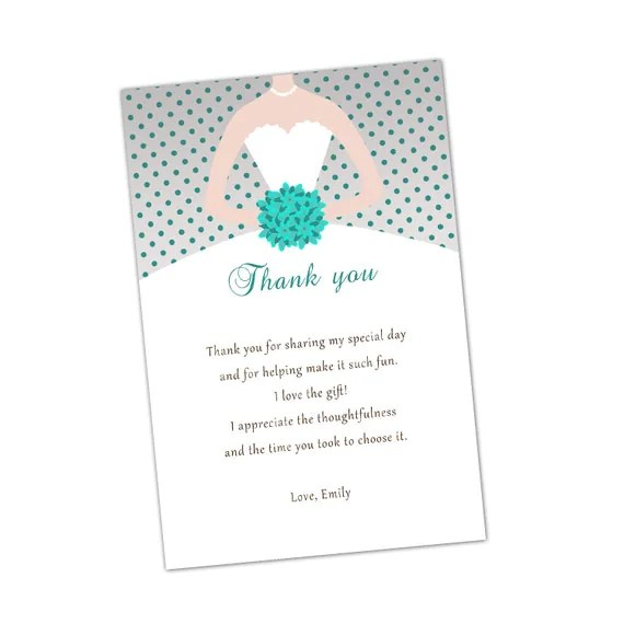 thank you notes for bridal shower - Selol-ink