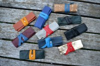 Leather flash drive / USB case holder Hand stitched