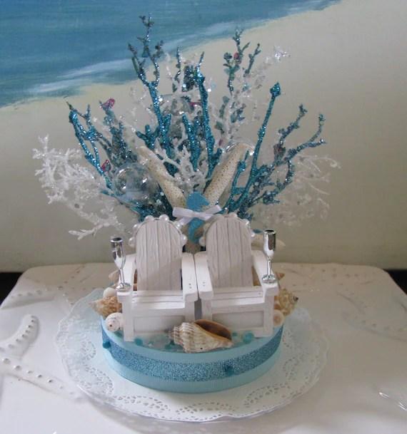 Adirondack Chairs Beach Wedding Cake By Ceshoretreasures