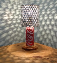 Coca Cola Soda Can Lamp with Pull Tab Lamp Shade by ...