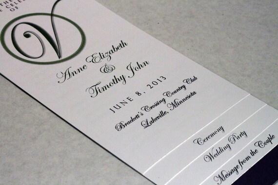 wedding booklet programs