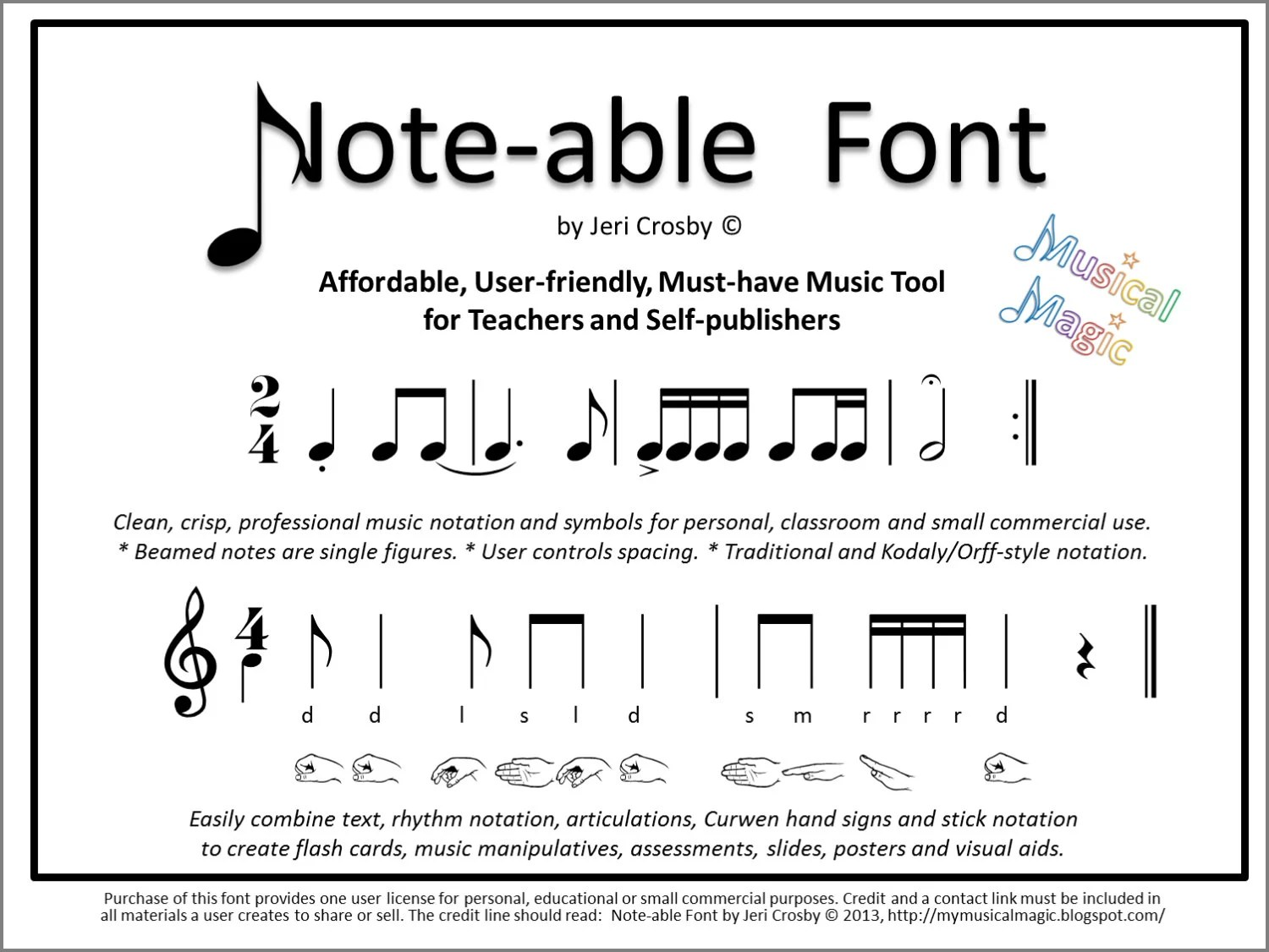 Music Notation Notes Note Able Font Easily Type Rhythm Notation Articulations