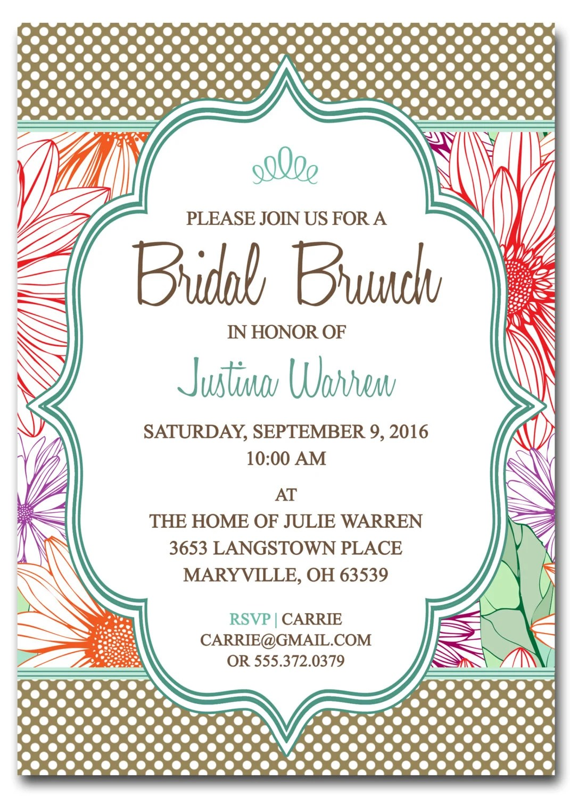Bridal Shower Invitations Free Printable Bridal Shower Brunch - Free Printable Wedding Shower Invitations Templates