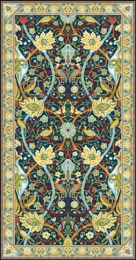 Teppich Knüpfen Muster Items Similar To Bullerswood Rug Carpet By William Morris