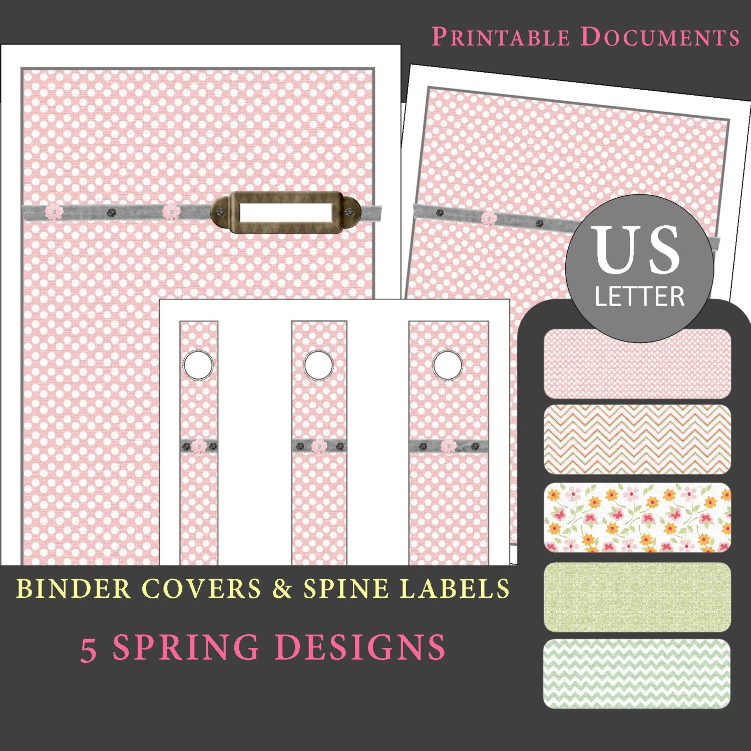 binder spine covers