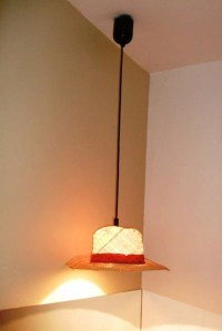 Items similar to Panama Straw Hat Lamp Shade Hanging Light ...