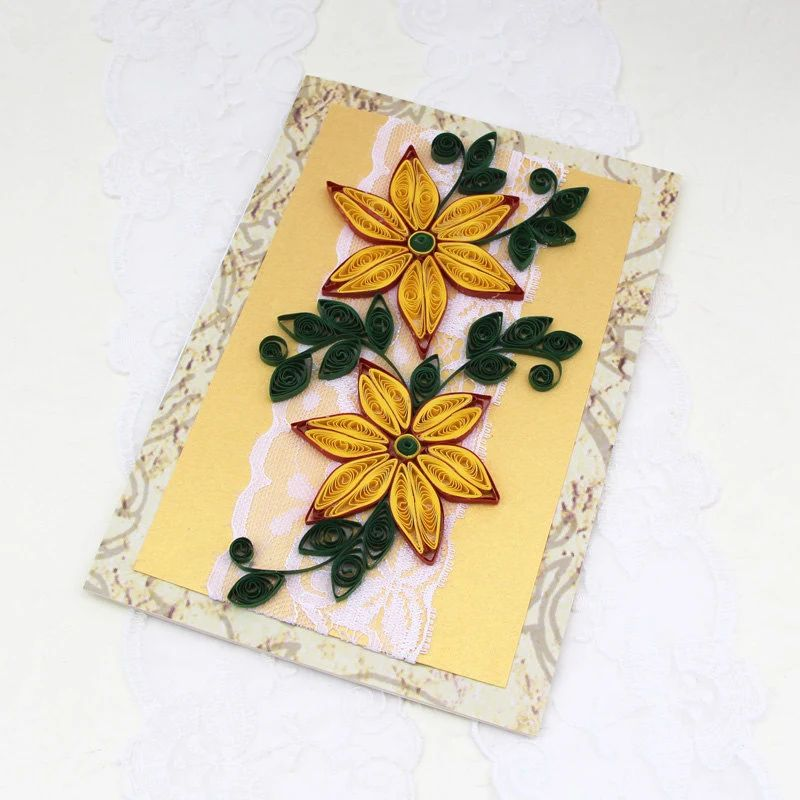 Paper quilling greeting card paper quilled by