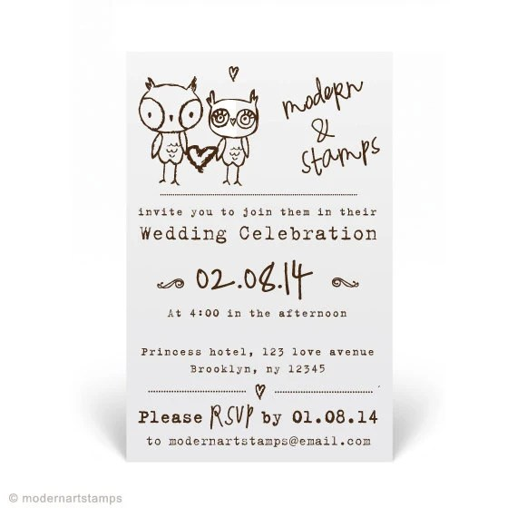 Wedding Invitation Stamp Wedding Stamp Custom By