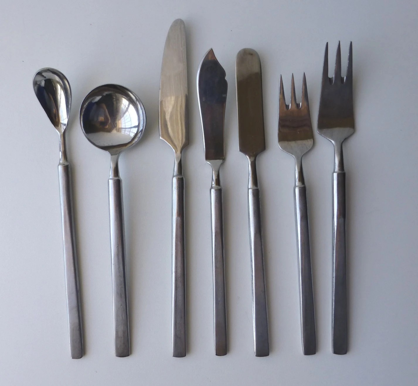 Contemporary Stainless Steel Flatware Mid Century Modern Stainless Steel Flatware By