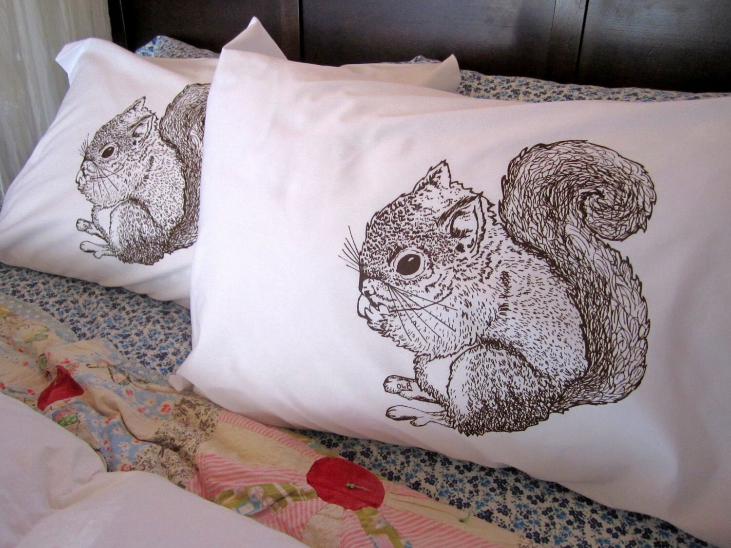 Screen Printed Pillowcases Set Of 2 Standard Pillow Covers