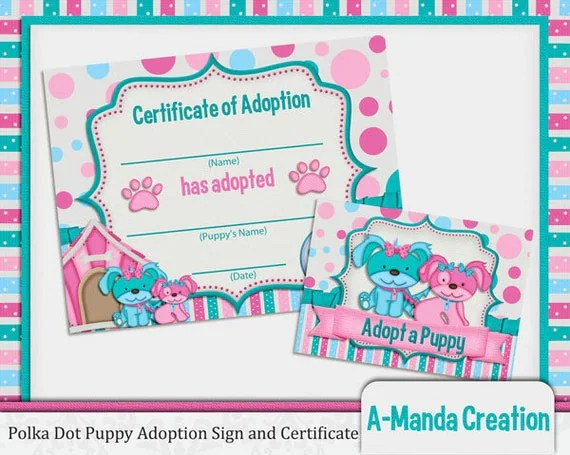 Blank Adoption Certificate Template   colbro.co