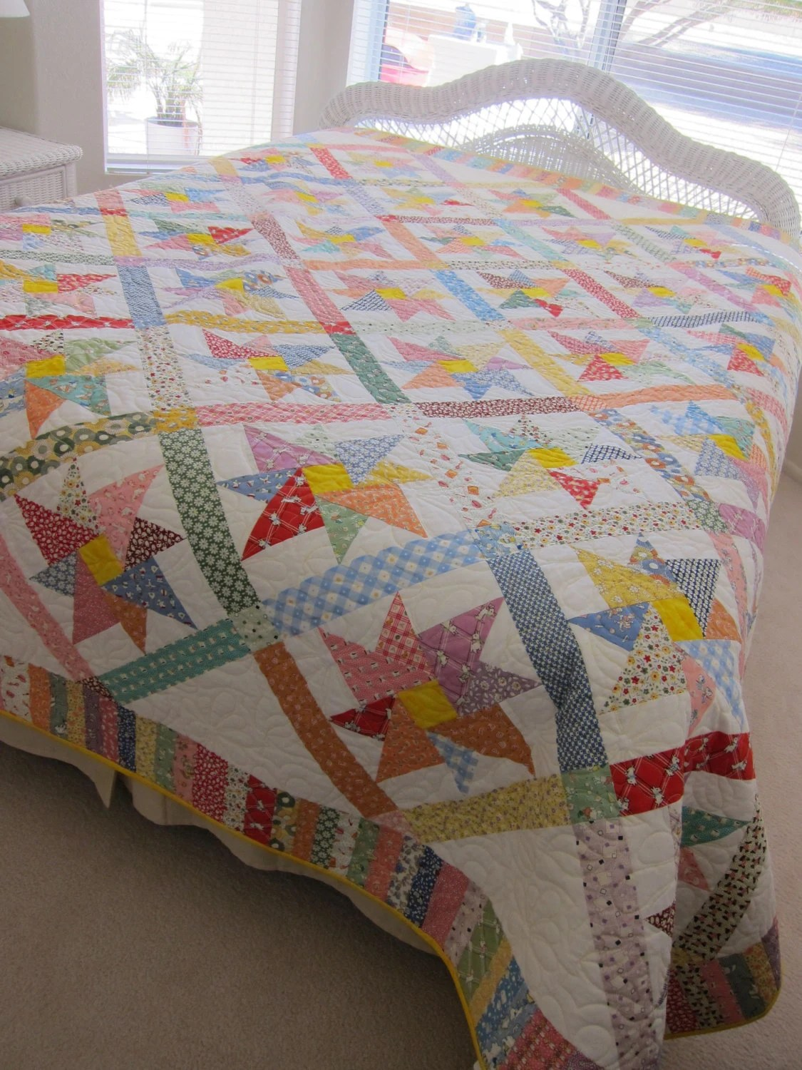 King Quilt Size King Size 1930s Reproduction Pinwheel Quilt
