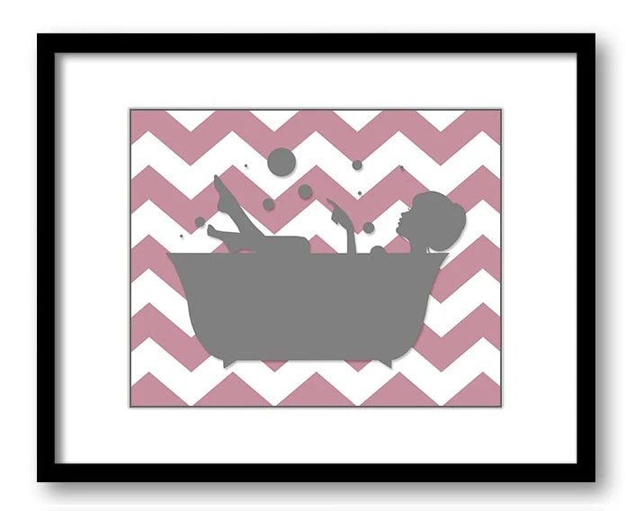 Bathroom Decor Bathroom Dusty Rose Pink Grey Gray Girl with